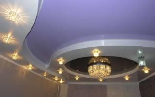 Натяжной потолок – освещение, варианты