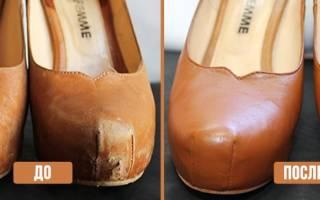 Как убрать царапины с обуви?