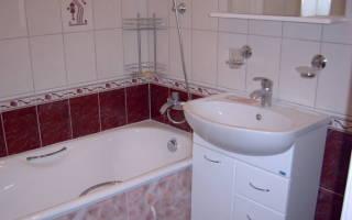 Высота установки смесителя над ванной