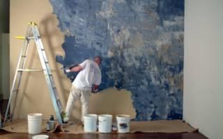 Декоративная покраска стен своими руками – необычные способы нанесения