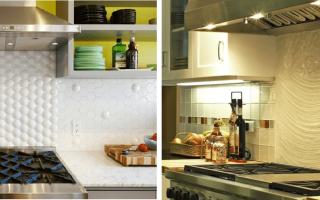 Как сделать фартук на кухне из плитки?