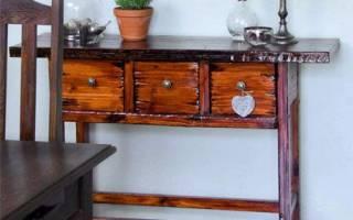 Как сделать консольный столик своими руками?