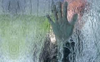 Водопад по стеклу своими руками