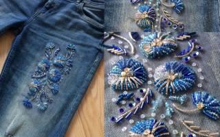 Вышивка на джинсах своими руками – схемы
