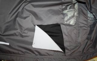 Как зашить дырку на куртке, чтобы не было видно?