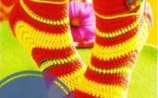 Как связать носки крючком?