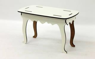 Как сделать стол из бумаги?