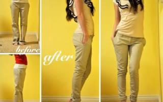Как ушить брюки по бокам в домашних условиях?