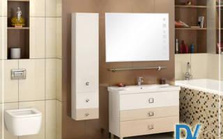 Как повесить шкаф в ванной на плитку?