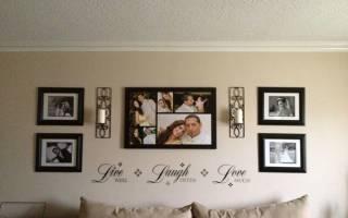 Как оформить фотообои на стене в рамку?