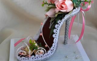 Как сделать туфлю из конфет?