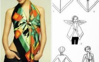 Как сшить блузку из платков?
