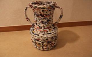 Как сделать вазу из газетных трубочек? Для начинающих
