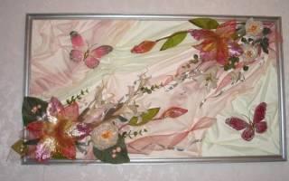 Картины из искусственных цветов своими руками