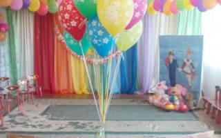 Воздушный шар с корзиной своими руками