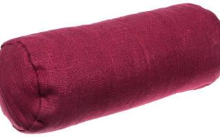 Как сшить подушку валик своими руками? Выкройки для разных вариантов