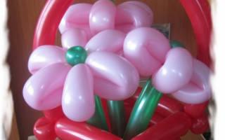 Как сделать из шариков простую корзину?