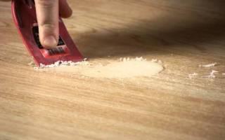 Как убрать воск со стола?