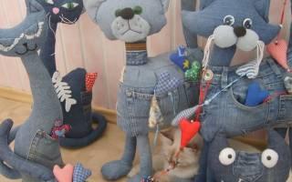 Игрушки из джинсы своими руками – выкройки