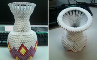 Как сделать вазу из бумаги своими руками – оригами, простую?