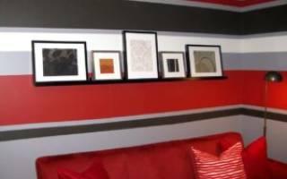 Как покрасить стену в два цвета?