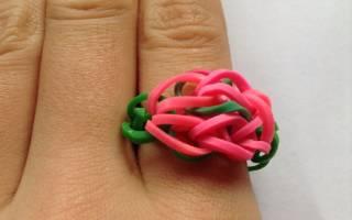 Как сделать кольцо из резинок?