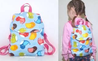 Как сшить детский рюкзак своими руками – выкройка