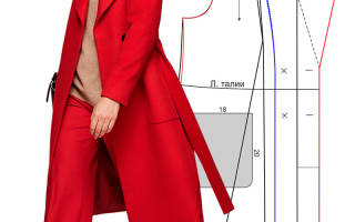 Как делать выкройку воротника на пальто?