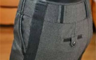Как расставить брюки по бокам?