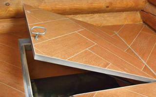 Как сделать крышку для погреба в доме?