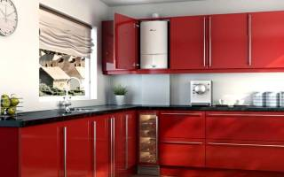 Кухни с газовым котлом – дизайн