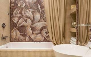 Дизайн ванной с мозаикой и плиткой