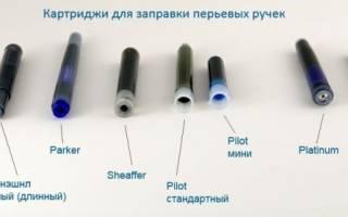 Как заправить перьевую ручку чернилами?