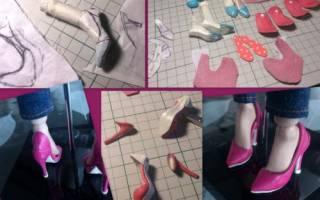 Как сделать туфли для куклы?