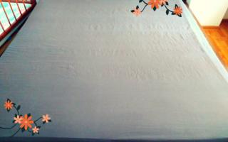 Как сшить простынь на резинке на матрас?