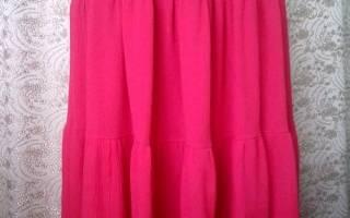 Как сшить многоярусную юбку?
