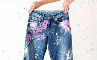 Как украсить джинсы?