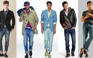 Как делать подвороты на джинсах мужчине?