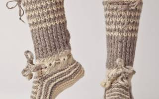 Как вязать носки спицами?