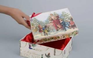 Декупаж картона своими руками салфеткой