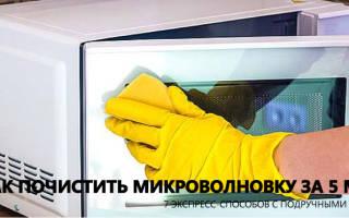 Как очистить микроволновку внутри? Быстрый способ