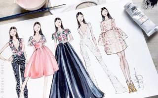 Дизайн одежды – рисунки