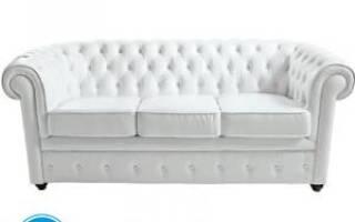 Диван белый экокожа – красивое дополнение комнаты