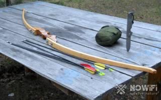 Как сделать лук из дерева в домашних условиях?