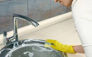 Как очистить раковину