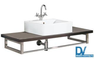 Как крепить столешницу в ванной к стене?