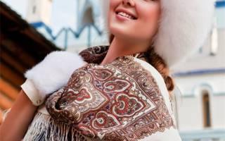 Одежда из павлопосадских платков своими руками
